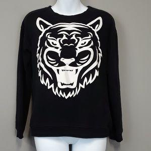 Forever 21 black tiger graphic sweatshirt size S